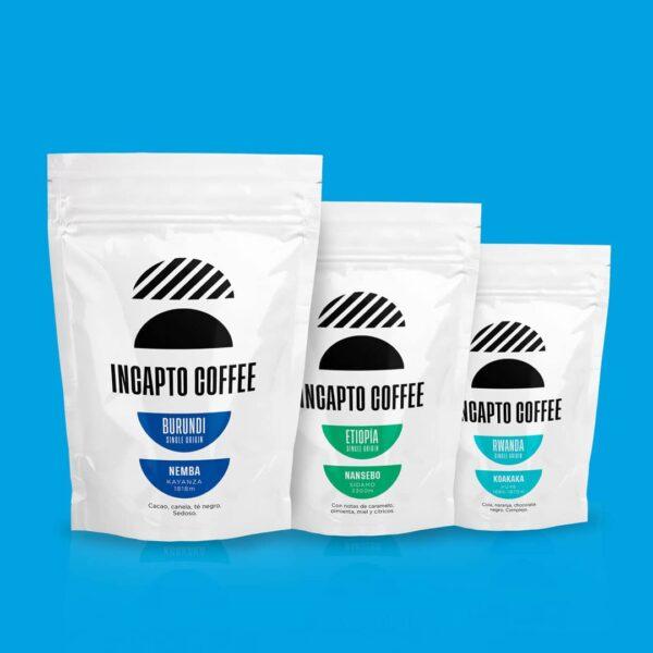 Pack Degustación café en grano África
