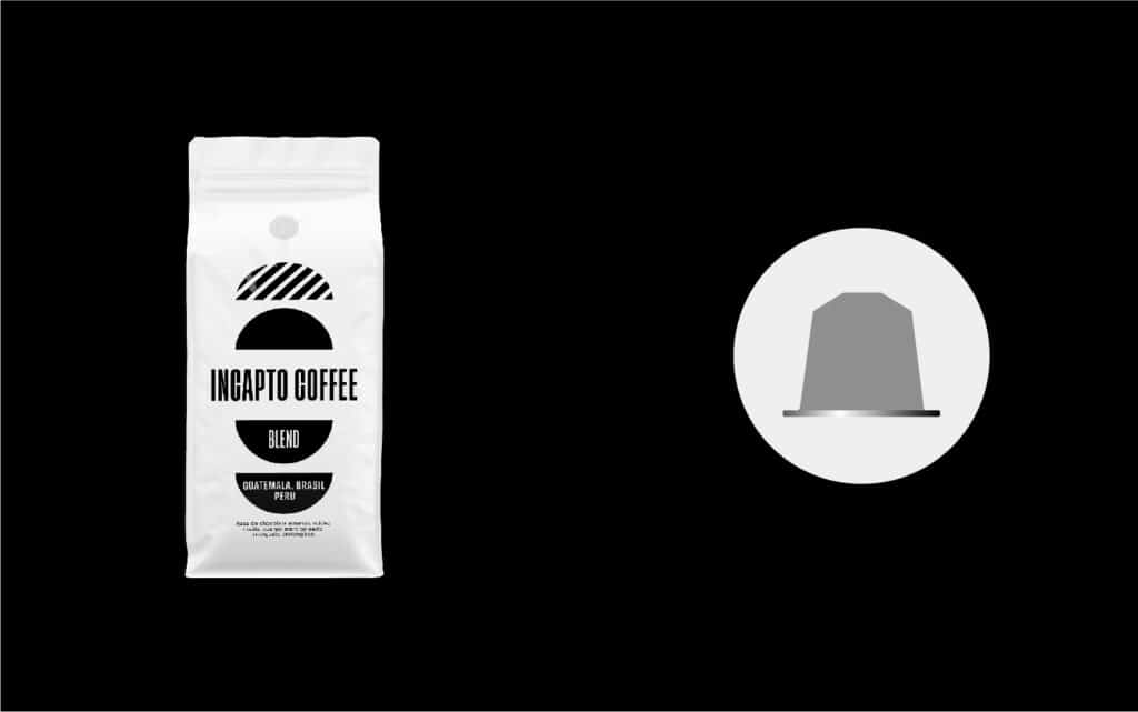 Equilavencia cápsulas café Blend etiqueta negra
