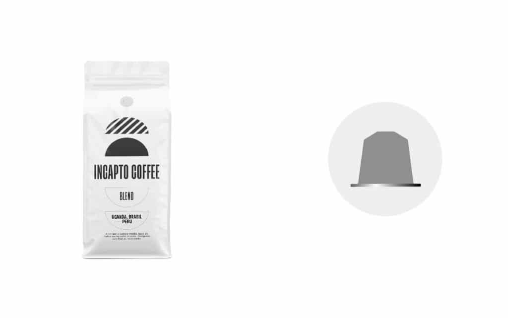 Equilavencia cápsulas café Blend etiqueta blanca